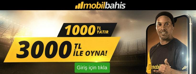 Mobilbahis 3000 TL bonus
